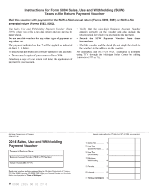 Michigan Form 5094 - Fill Online, Printable, Fillable, Blank ...