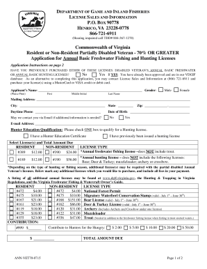 Fillable online dgif virginia special annual basic for Virginia fishing license online