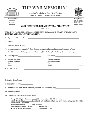 Bill Of Sale Form New Jersey Rental Application Templates Fillable - Room for rent application template