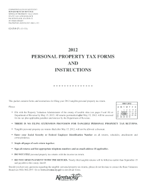 Tangible personal property tax returns filed after May 15, 2012, will not be allowed a discount