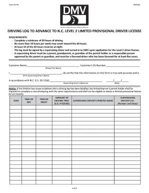 driving log sheet template