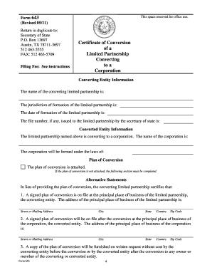 Form 643General Information