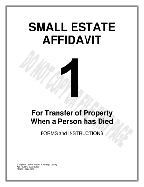 Small Estate Affidavit Forms and Templates - Fillable & Printable ...