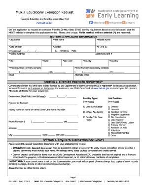 Merit Education Exemptiin Fill Online Printable Fillable Blank Pdffiller