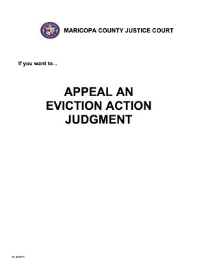 Appeal an eviction action judgment - Maricopa County Justice Courts