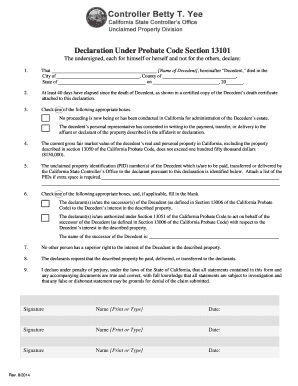Bill Of Sale Form Affidavit Under California Probate Code Section ...