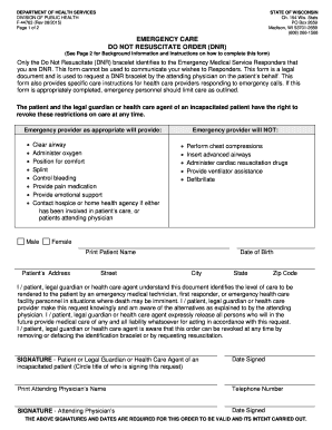 Bill Of Sale Form Wisconsin Do Not Resuscitate Form Templates ...