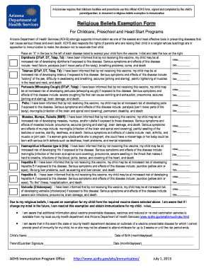 Editable Religious Vaccine Exemption Letter Fill Out Print