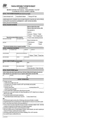 Fillable Online dmv ca SR 19C, Financial Responsibility Information