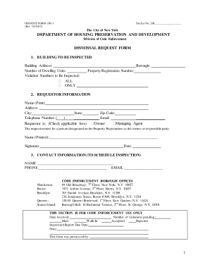 Fillable Online Dismissal Request form Fax Email Print - PDFfiller
