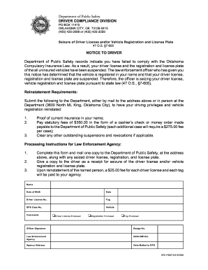 Oklahoma DPS Licensing Services