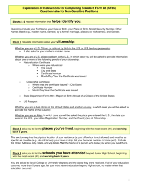 sf85 Forms and Templates - Fillable & Printable Samples for PDF ...
