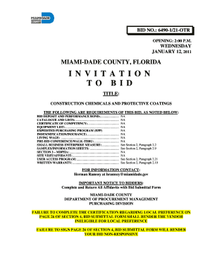 33 printable invitation to bid template forms fillable samples in