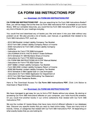Fillable Online jansbooks CA FORM 568 INSTRUCTIONS. CA FORM 568 ...
