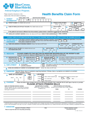 Fillable Online Blue Cross Blue Shield Federal Health-Benefits ...