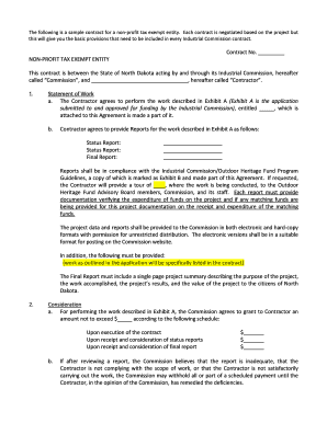Sample Non-Profit Contract - nd