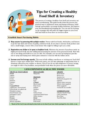 Tips for Creating a Healthy Food Shelf Inventory