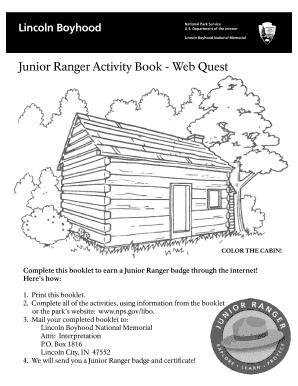 Fillable online nps junior ranger activity book web quest nps fill online publicscrutiny Image collections