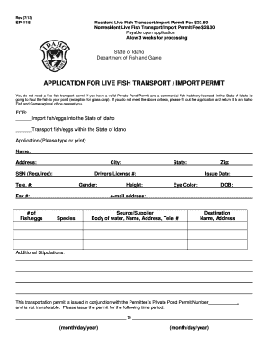 Fillable online fishandgame idaho application for live for Idaho fishing license online