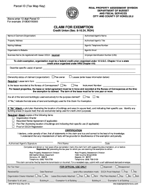 City County Honolulu Home Exemption Form