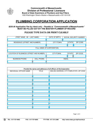 Printable plumbing quotation template - Edit, Fill Out & Download