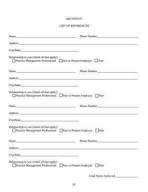 CVPM Recommendation Form