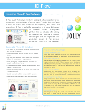 Jolly id flow software full. free download