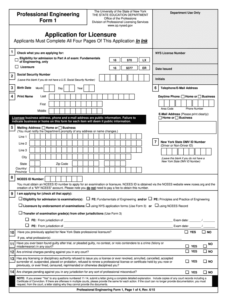 NYS License Number Fill Online, Printable, Fillable, Blank