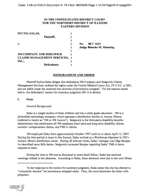 Editable illinois motion for summary judgment - Fill Out & Print
