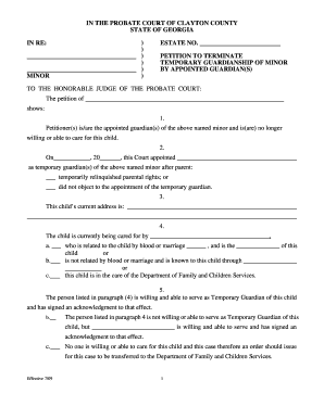 picture about Printable Guardianship Forms named 19 Printable non permanent guardianship without having courtroom Kinds and
