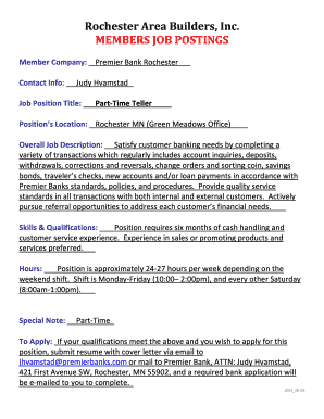 Bank Teller Jobs Description  Bank Teller Job Description