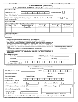 Pan Application Form Pdf New, Ncis Acknowledgement To The Subscribers Form, Pan Application Form Pdf New