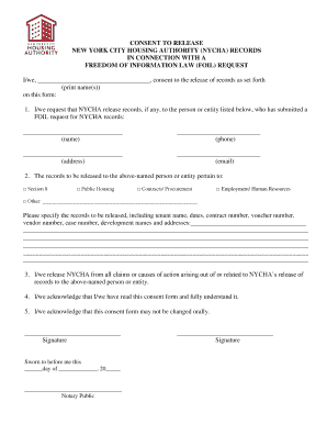 FOIL Consent to Release Form