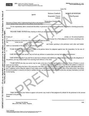 Blumberg Notice - Fill Online, Printable, Fillable, Blank | PDFfiller