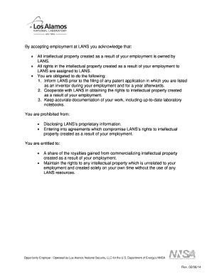 Intellectual Property Assignment Agreement Form (pdf) - lanl