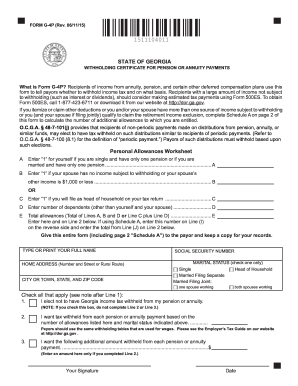 2015-2017 Form GA G-4P Fill Online, Printable, Fillable, Blank ...