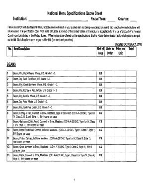 Menu Production Sheet Edit Fill Print Download Top Forms In