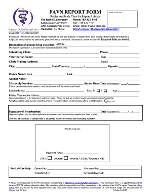 Fillable Online FAVN REPORT FORM 01-02-15 Version.docx Fax Email ...