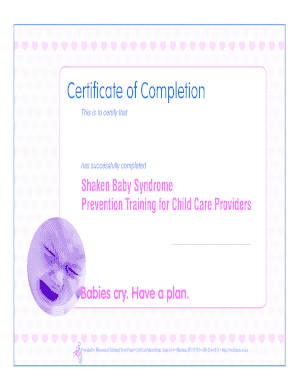 Certificate of Completion - Wisconsin Child Care Information Center