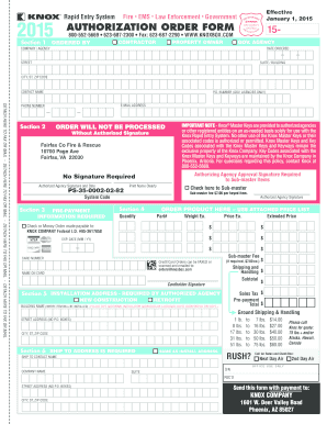 Fillable Online fairfaxcounty Knox-Box Authorization Form ...