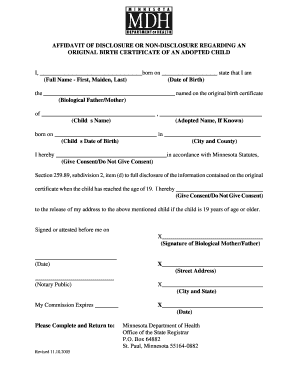 Affidavit of birth by mother forms and templates fillable affidavit of disclosure or non disclosure regarding an original birth certificate of an adopted child yadclub Images