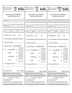 Journal No How We Get Bpsc Form - Fill Online, Printable