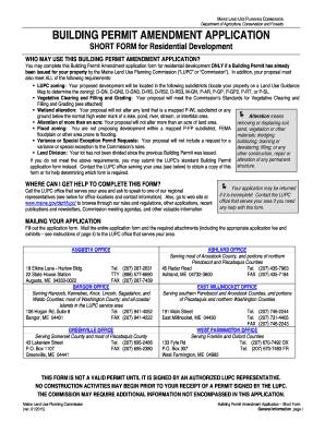 Fillable Online maine Building Permit Short Form Application Fax ...