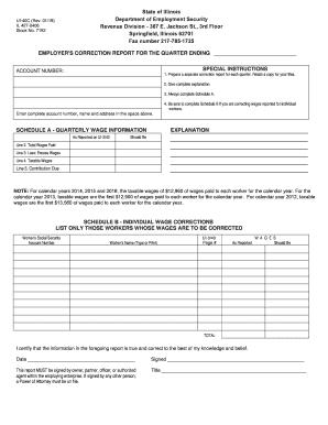 Fillable Online ides illinois UI-40C.pdf Fax Email Print - PDFfiller
