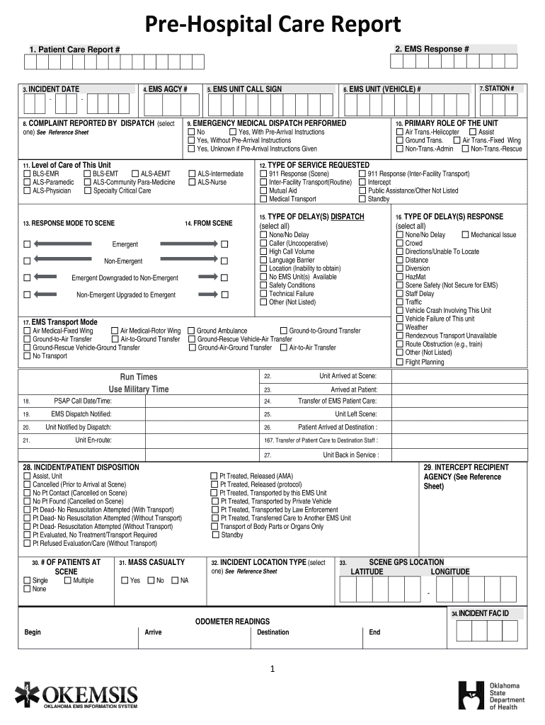 Patient Care Report Template Doc - Fill Online, Printable Throughout Medical Report Template Doc