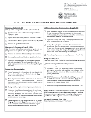 i-130 checklist Forms and Templates - Fillable & Printable Samples ...