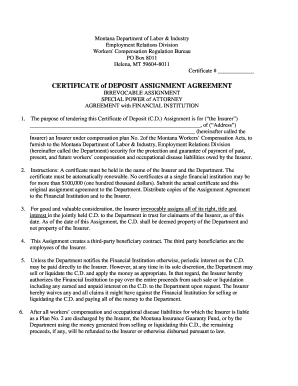 Certificate of participation sample forms and templates fillable certificate of deposit assignment agreementc yelopaper Choice Image