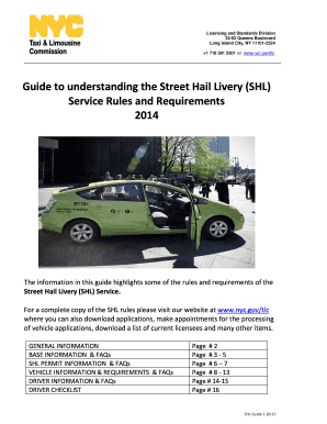 Fillable Online Nyc Guide To Understanding The Street Hail Livery Shl Nyc Fax Email Print Pdffiller