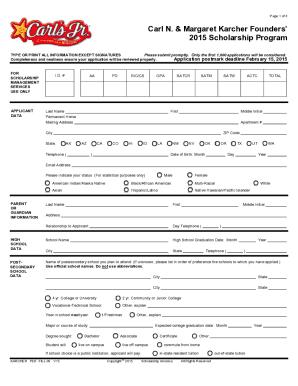 Dinuba Carls Junior Aplication Pdf - Fill Online, Printable ...