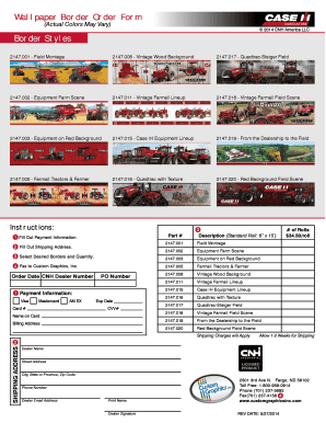 Case IH Wallpaper Order Form - Custom Graphics,...